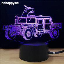 Military Armored Vehicle Car Light Sign Acrylic LED Sign Home Decor Gift Child's Room Panels Plate Plaques Desktop Decoration