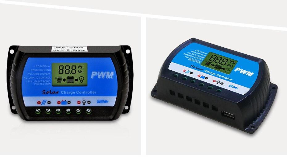 EASUN POWER Solar Charge Controller 30A 20A 10A Voltage Regulator ICharger PWM 24302010-R DES-11