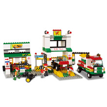 Models building toy 2500 City Bus car repair station 414Pcs Building Blocks compatible with lego city toys & hobbies(China)