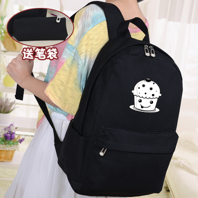 2017 new student female campus canvas shoulder bag Korean version of the school cute simple fresh backpack<br>