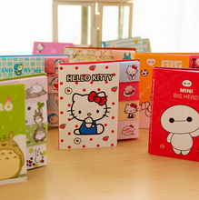 Cute Cartoon Totoro Hello Kitty Doraemon Baymax Self-Adhesive Memo Pad Sticky Notes Post It Bookmark School Office Supply