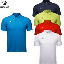 KELME Men Sport Running t shirt Short Sleeve Cotton shirt For Men Designer Polos Breathable Soccer jerseys