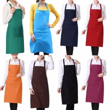 Women Apron Korean Waiter Aprons With Pockets Restaurant Kitchen Cooking Shop Art Work Apron E2shopping