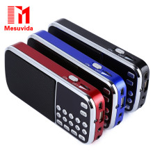 Mesuvida L-088 Portable Speaker Mini FM Radio Stereo Speaker MP3 Music Player Double Loudspeaker with TF Card USB AUX Input(China)