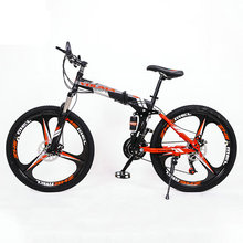 24speed 26inch Folding bicicleta road bike Double disc brakes folding mountain bikes student bicycle easy to carry free delivery