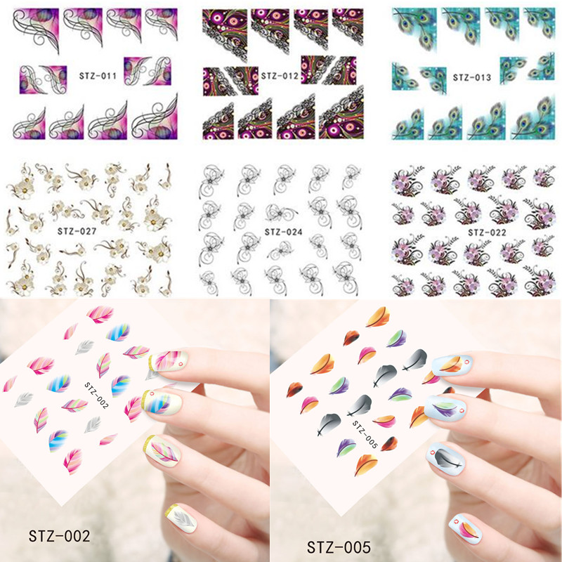 1pcs Top Sale Nail Art Decals Beauty 31 Designs Cartoon/Lace/Flower Image Wraps of Nail Water Transfer Sticker STZ001-031<br><br>Aliexpress