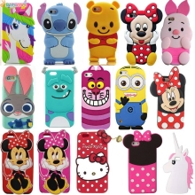3D Cartoon Characters Minnie Mickey Star Wars Bucks Unicorn Cat Soft Rubber Cover Silicone case for iphone 4 4s 5 5s 6 6s 7 Plus