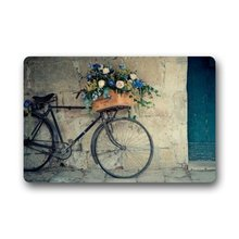 Vintage Bicycle and Flower Bike Non-woven Fabric Door Mat Indoor/Outdoor/Bathroom Doormat Rugs for Home/Office/Bedroom(China)