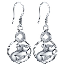 lively mice high quality Silver Earrings for women fashion jewelry earrings /ZMJLGPWJ LGXAGZZO