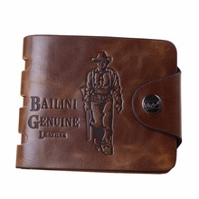 Buy 2016 Men Vintage Top Leather Short Clutch Wallet Male's Cowhide Hasp Hunter Handbag Handmade Cowboy Purse Coin Pocket Car Holder for $3.99 in AliExpress store