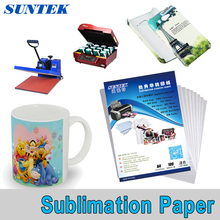100PCS A4 size blank DIY heat transfer sublimation paper, mug/plastic/T-shirts, EPSON inkjet printer available