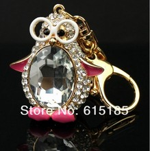 Free Shipping wholesale key chains, alloy rhinestone hello kitty keychains in golden tone width free jewelry gift-1pc/lot--7008