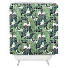 Tropical plants 180CM*180CM Polyester Fabric Bath Curtain Wholesale Custom Waterproof Mildew Shower Curtain Bathroom curtain