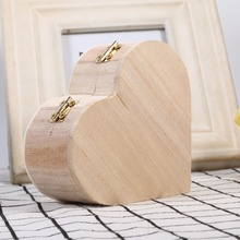 Creative Storage Boxes Heart Shape Wood Box Jewelry Box Hardware Wedding Gift Makeup Storage Bin Earrings Ring Organizer
