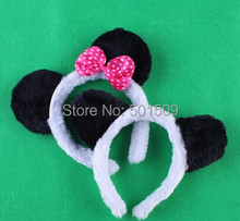 Free ship 20 pcs/lot Kids chinese panda ears hairbands costume birthday party headband for children & adult