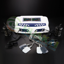Negative electric cell far infrared body cleanse detox machine for double persons use