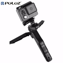 PULUZ Camera Tripod for Phone Portable Folding Table-top Support Frame For GoPro Accessories Hand Held Tripe Mobile Phone Holder(China)