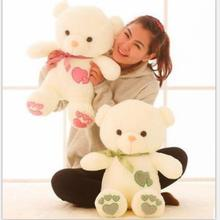 1pcs 45cm Stuffed Plush Toy Love Heart Big Plush Teddy Bear Soft Gift for Valentine Day Birthday Girls(China)