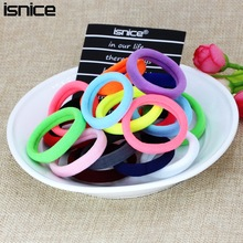 isnice Diameter 4cm Hair Accessories for women Scrunchies Elastic Hair Bands Lady decorations Headdress Gum for hair ties(China)
