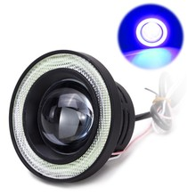 2pcs 3200LM Car COB LED Angel Eyes Fog Light Lens Projector Halo Ring Xenon Fog Lamp