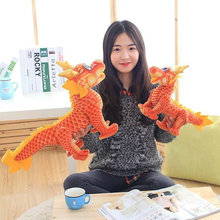 Drop 1 piece 40/60cm cartoon simulation Chinese dragon plush doll creative romantic girl festival jubilant stuffed toy gift(China)