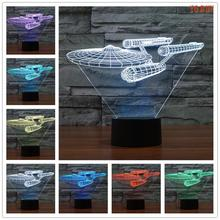Novelty 3D Star Trek Decor Bulbing Night Light Lamp Gadget LED Lighting Star Wars Home Bedside Nightlight for Child Gift