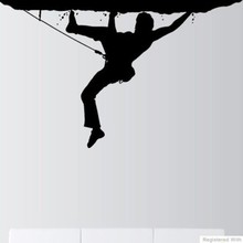 Rock Climbing Vinyl Wall Decal Boy Rock Climbing Mural Wall Sticker Bedroom Fitness Sticker Boys Room Home Decoration