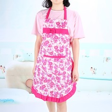Hot Sale Nice Monther Gift Printed Apron with Pockets Waterproof FloralApron Kitchen Restaurant Cooking Bib Aprons Fashion Women(China)