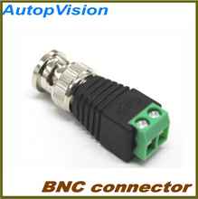 Wholesale Mini Coax CAT5 To Camera CCTV BNC UTP Video Balun Connector Adapter BNC Plug For CCTV System