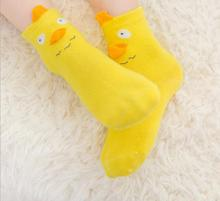 Spring new cute cotton cartoon three - dimensional children 's socks non - slip plastic children socks