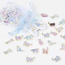 100 pcs/pack We Are Coming Organza Bag Decorative Stickers Adhesive Stickers DIY Decoration Craft Scrapbooking Stickers