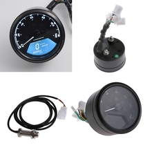1Set Multi-function LCD Digital Motorcycle Odometer Tachometer Speedometer Gauge 12000RPM(China)