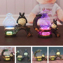 3D Totoro LED light night Japanese Anime Lighting Cartoon Girl kiki Friend figure Model Studio Ghibli Miyazaki Kids gifts Toy