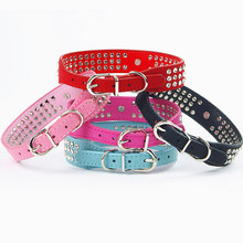Pet Dog-Collar Small Dog Leather Collar Rhinestone Necklace Dog Collars Harnesses Leads Rhinestone Animal Dog Accessories 30