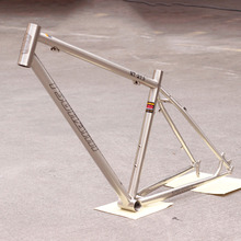 "Reynolds 520 CR-MO Steel MTB Bike Frame 27.5"" 650B Classic Silver Brushing 15.5"" 17"" 18.5"" TSUNAMI Hight Quality"