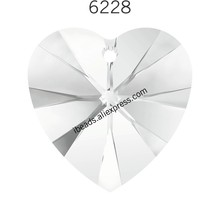 (1 piece) crystal from SWAROVSKI 6228 XILION Heart pendant made in Austria loose beads stone retail for DIY jewelry making(China)