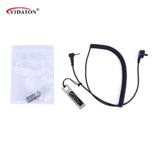 Two Way Radio Accessories New 2.5mm Covert Listen Only Acoustic Clear Tube Earpiece 1 PIN for Ham Radio Black