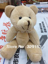 H-15cm light brown color  lovely Mini Stuffed Jointed Bear Gift Flower Packing Teddy Bear 20pcs/lot