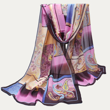 Silk Scarf luxury brand Foulard Femme Plaid Muslim hijab Chiffon Scarf Women Shawls and Scarves Wraps Bandana Drop Shipping