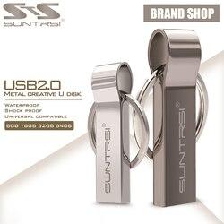 Suntrsi USB флэш-накопитель 2,0 64 Гб металлическая ручка-накопитель высокоскоростная Флешка портативная зарядка для теленфона палка 32 Гб 128 ГБ USB в...