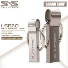 Suntrsi USB Flash Drive 64GB Metal Steel Pen Drive High Speed Pendrive Key Chain USB Stick Flash Drive Memory USB Flash Freeship(China)
