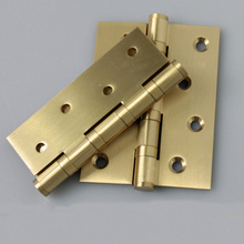 all copper thickening wooden door hinge Silent chain bearing hinge 2pcs