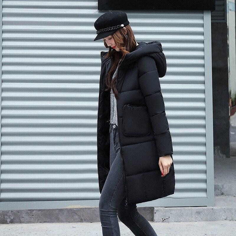 2017 Winter New Hot Fashion Female Cotton-padded Hooded Loose Long Parkas Coats Women Thick Warm Long Sleeve Zipper JacketsÎäåæäà è àêñåññóàðû<br><br>