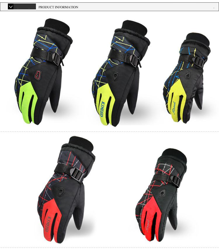 Men Women Ski Gloves Winter Waterproof Anti-Cold Warm Gloves Outdoor Sport Snow Sportswear Skiing Gloves 5