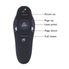 New Wireless Presenter with Red Laser Pointers Pen USB RF Remote Control PPT Powerpoint Presentation Mouse(China)