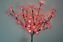 "3V Blossom mini Rose Branch Light 20"" 60 LED Christmas branch light with DC Adaptor wedding table decoration branch twig light"