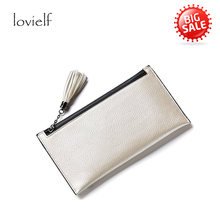 lovielf girl women Sweet Long Wallet Money Case Card Holder Slim Wallet Pearly lustre Tassels Fashion Purse Coin Bag Organizer