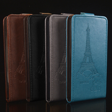 "Retro pattern pouch For BQ 5032 bqs 5032 case 5.0"" Leather + silicone Flip cover For BQ BQ-5032 Element 5032 Cover coque fundas"