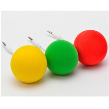 3.5mm Audio Jack Portable Mini Music Sponge Ball Speaker for Phone MP3