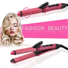 Professional Automatic Wet Dry Dual Use 2 In 1 35w Hair Straightener Curler AC220V/50Hz Hair Straightener Curler easy to operate(China)